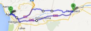 1 Day Tour without Oasis Tioute: 170km