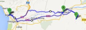1 Day Tour including Tioute Oasis: 230km