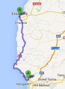 TWIKE MAROC TOUR Agadir - Essaouira: 175km