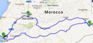 Agadir - Merzouga - Agadir: 1500km