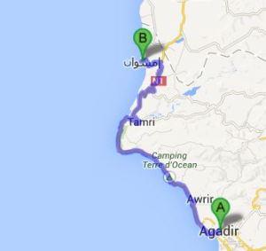 TWIKE MAROC Beach Tour: 90km