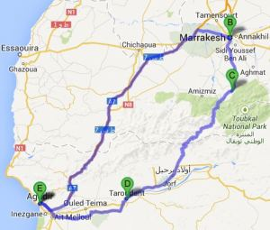 Agadir - Marrakech - Agadir: 570km