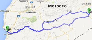 Agadir-Erfoud-Agadir: 1350km