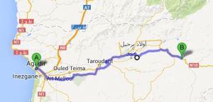 Agadir-Talouine: 210km